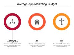 Average App Marketing Budget Ppt PowerPoint Presentation Professional Summary Cpb Pdf
