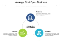 Average Cost Open Business Ppt PowerPoint Presentation Slides Background Image Cpb Pdf