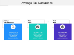 Average Tax Deductions Ppt PowerPoint Presentation Icon Layout Cpb Pdf