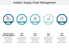 Aviation Supply Chain Management Ppt PowerPoint Presentation Icon Ideas Cpb