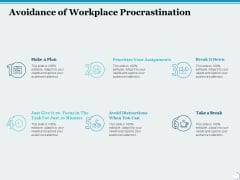 Avoidance Of Workplace Procrastination Ppt PowerPoint Presentation File Ideas