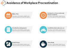 Avoidance Of Workplace Procrastination Ppt PowerPoint Presentation Layouts Inspiration