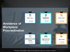 Avoidance Of Workplace Procrastination Ppt PowerPoint Presentation Visual Aids Background Images