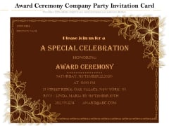Award Ceremony Company Party Invitation Card Ppt PowerPoint Presentation Gallery Vector PDF