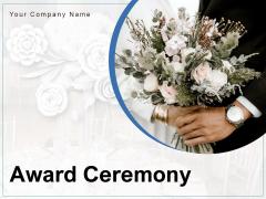 Award Ceremony Couple Dancing Venue Direction Ppt PowerPoint Presentation Complete Deck