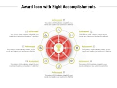 Award Icon With Eight Accomplishments Ppt PowerPoint Presentation Inspiration Aids