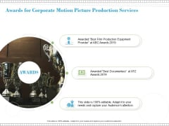 Awards For Corporate Motion Picture Production Services Ppt PowerPoint Presentation Layouts Slide Download