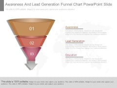 Awareness And Lead Generation Funnel Chart Powerpoint Slide