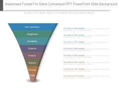 Awareness Funnel For Sales Conversion Ppt Powerpoint Slide Background