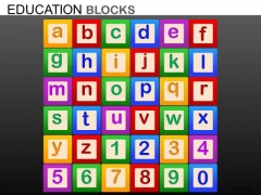 A To Z And 0 To 9 Blocks PowerPoint Templates