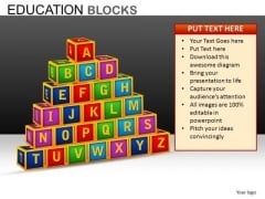 A To Z Blocks PowerPoint Templates Download