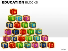 A To Z Education Clipart Graphics Images For PowerPoint