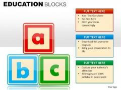 Abc Blocks Clipart PowerPoint Slides