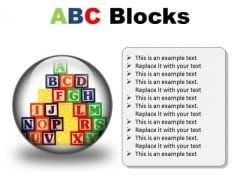 Abc Blocks Education PowerPoint Presentation Slides C