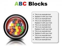 Abc Blocks Education PowerPoint Presentation Slides Cc