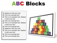 Abc Blocks Education PowerPoint Presentation Slides F