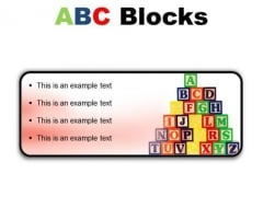 Abc Blocks Education PowerPoint Presentation Slides R
