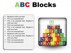 Abc Blocks Education PowerPoint Presentation Slides S