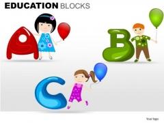 Abc Education Blocks PowerPoint Templates Ppt Slides