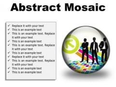 Abstract Mosaic Business PowerPoint Presentation Slides C
