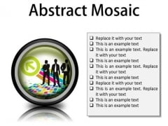 Abstract Mosaic Business PowerPoint Presentation Slides Cc