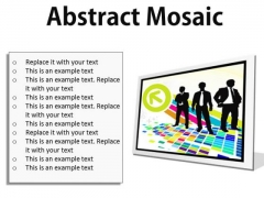 Abstract Mosaic Business PowerPoint Presentation Slides F