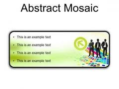 Abstract Mosaic Business PowerPoint Presentation Slides R