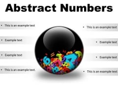 Abstract Numbers Education PowerPoint Presentation Slides C