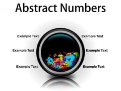 Abstract Numbers Education PowerPoint Presentation Slides Cc