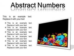 Abstract Numbers Education PowerPoint Presentation Slides F