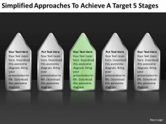Achieve Target 5 Stages How Write Business Plan Template Free PowerPoint Templates