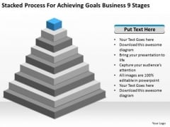 Achieving Goals Business 9 Stages Ppt Write Plan Template Free PowerPoint Slides