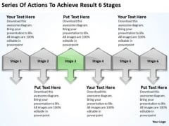 Actions To Achieve Result 6 Stages Personal Business Plan Template PowerPoint Templates