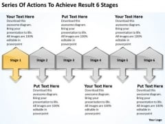 Actions To Achieve Result 6 Stages Transportation Business Plan PowerPoint Templates