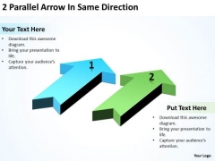Advantage Of Parallel Processing 2 Arrow Same Direction PowerPoint Slides