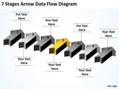 Advantage Of Parallel Processing 7 Stages Arrow Data Flow Diagram PowerPoint Slides