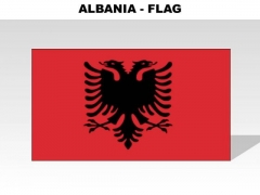 Albania Country PowerPoint Flags
