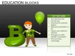 Alphabet B PowerPoint Templates
