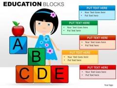 Alphabet Blocks PowerPoint Templates Education Ppt Slides