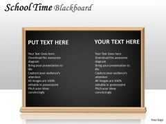 Alphabet School Time Blackboard PowerPoint Slides And Ppt Diagram Templates