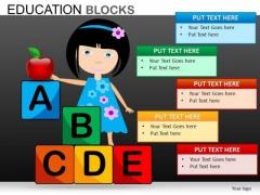 Alphabets Blocks PowerPoint Templates