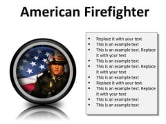 American Firefighter Youth PowerPoint Presentation Slides Cc