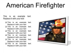 American Firefighter Youth PowerPoint Presentation Slides F
