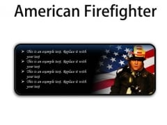 American Firefighter Youth PowerPoint Presentation Slides R