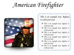 American Firefighter Youth PowerPoint Presentation Slides S