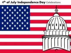 American Flag Independence Day 4th July PowerPoint Presentation Slides