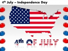 American Independence Day 4th July PowerPoint Templates