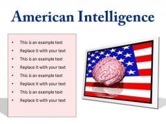 American Intelligence Metaphor PowerPoint Presentation Slides F
