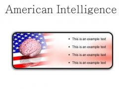 American Intelligence Metaphor PowerPoint Presentation Slides R