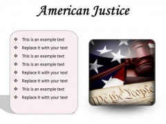 American Justice Law PowerPoint Presentation Slides S